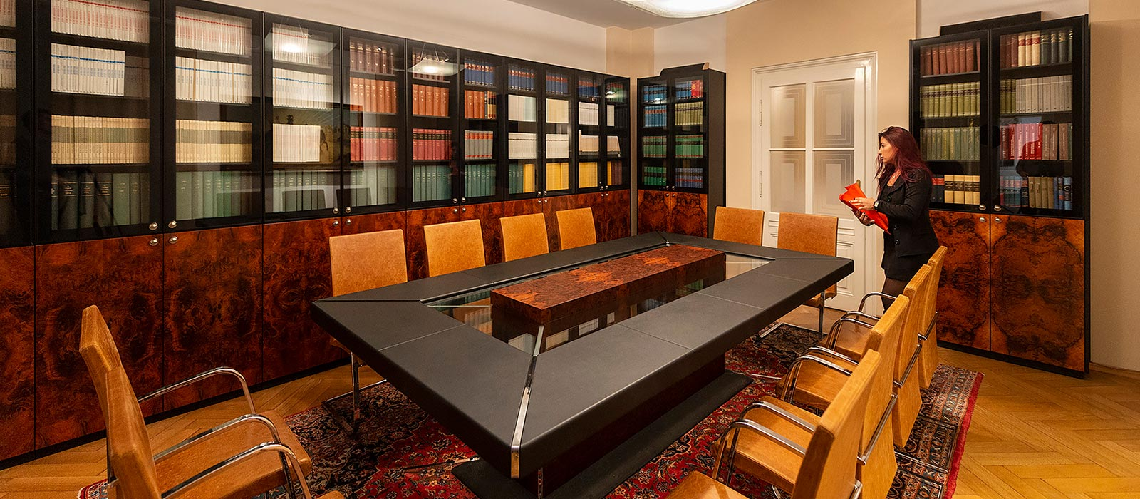 The meeting room of the International law firms in Italy